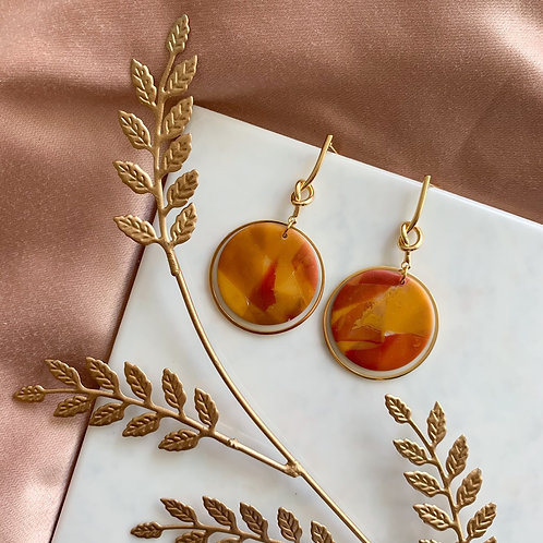 Camila (gold plated) in Vintage Orange