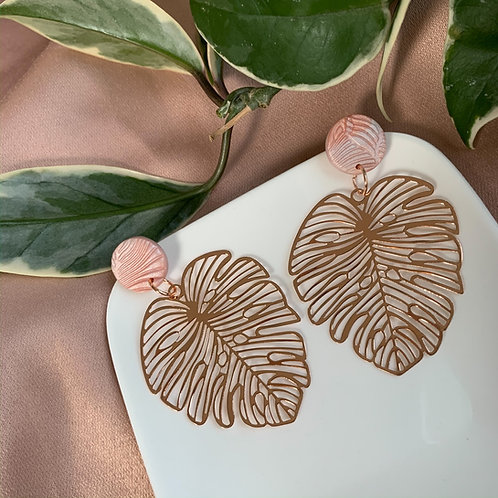 RoseGold Plated Statement Monstera