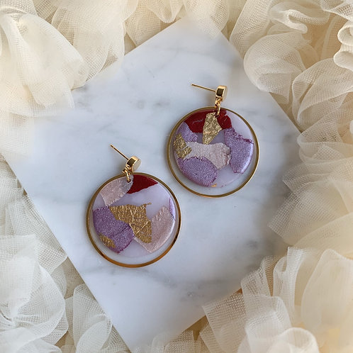 Nova in Purple and Red // gold plated