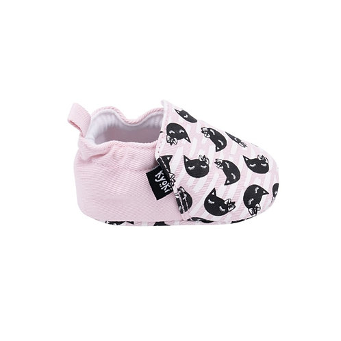 The One With the Cats With a Bow and Soft Fabric Sole