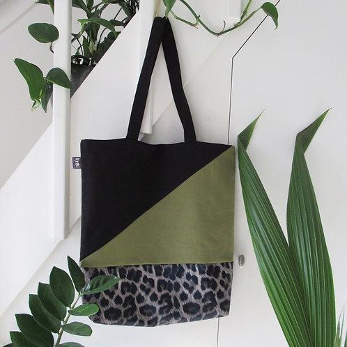 Tote Bag Leopard Peekaboo