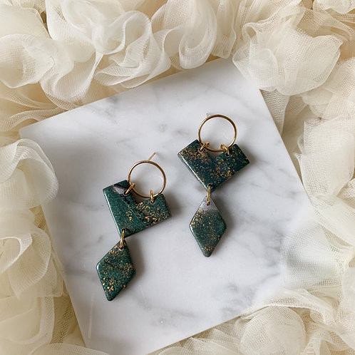 Moss green Andrea with goldfilled earring