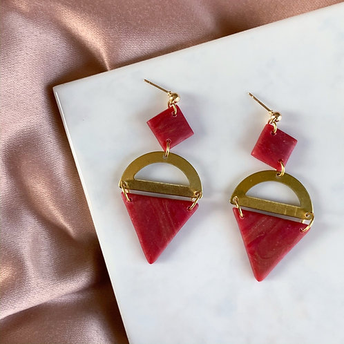 Phoebe in Red & Brass