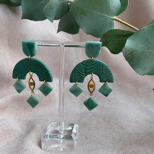 Sira in Teal and Jade Perfection
