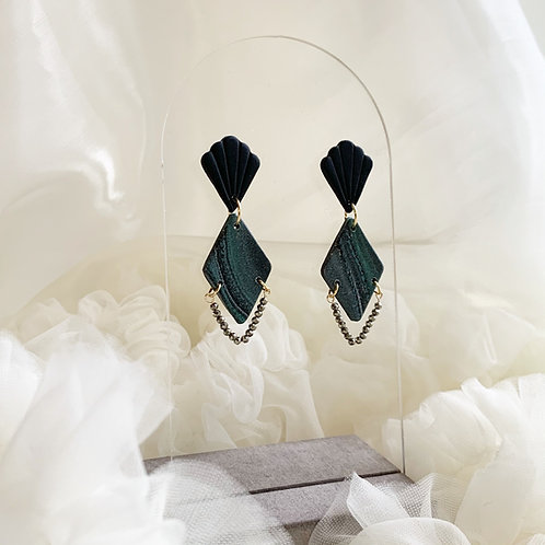 Art Deco Drop with Pyrite