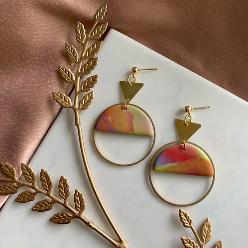 Paola in Summery Marble + Brass