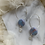 Thumbnail: Dreamy stud on a sterling silver hoop with moonstones