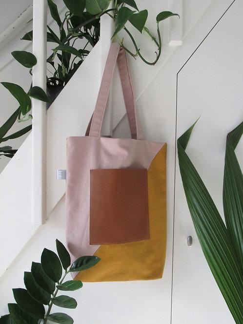 Tote Bag  Mustard Pink