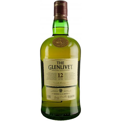 GLENLIVET 12 YR SCOTCH