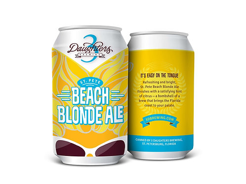 3 DAUGHTERS BREWING BEACH BLONDE ALE