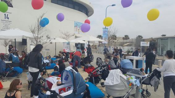 נמלצ'יק פופאפ להורים ותינוקות בנמל תל אביב