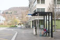 Bushaltestelle Kunzareal gleich vor der Atemtherapie Praxis in Windisch im Kanton Aargau