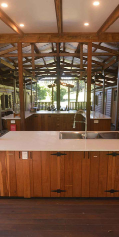 Jerrapark's modern kitchen offer lots of storage for those who need the kitchen for retreats, special events or simply long stays