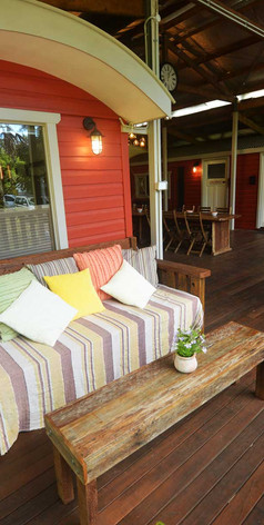 A large daybed on a cosy and quiet corner for those who want to chill out in the Northern Rivers Region