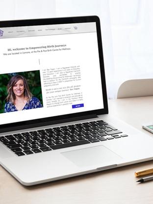 Empowering Birth Journeys website