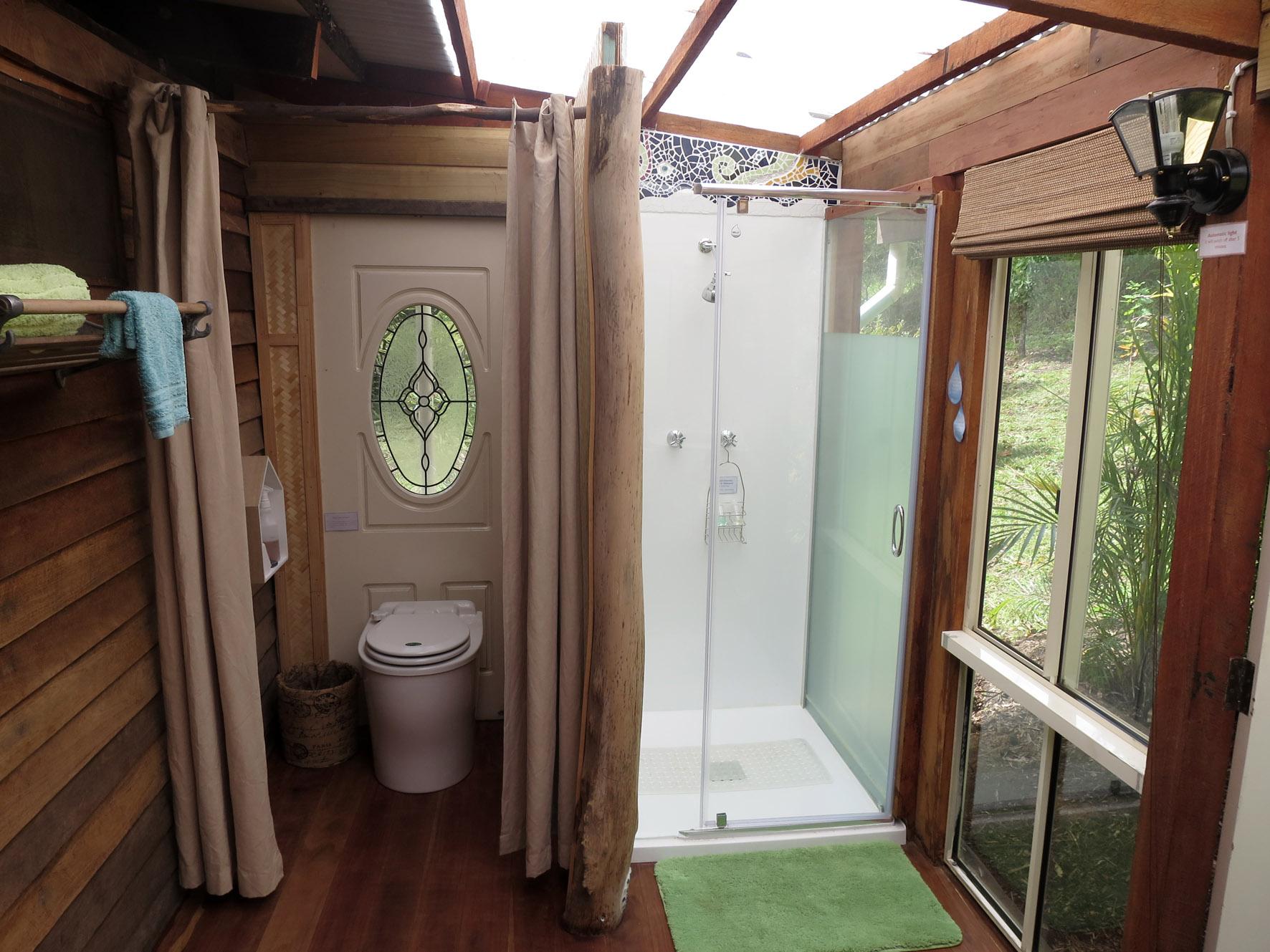 Composting toilets & shower