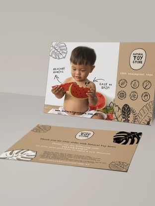 Natural Toy Store Graphic Design