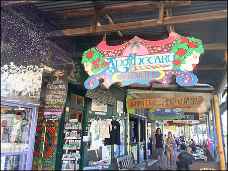 Nimbin Apothecary is a little shop and dispensary offering myriads of natural remedies. Go and try some teas, oils and potions...