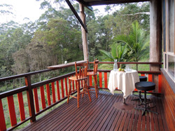 Covered deck to enjoy the view.