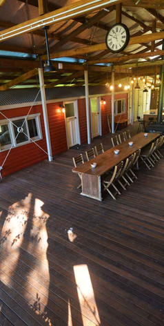 Enjoy the cosy and welcoming deck to entertain yourselves at Jerrapark Hideaway