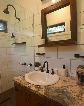 Jerrapark's modern showers is a must for those who want a base camp in Byron Hinterland  with all comfort