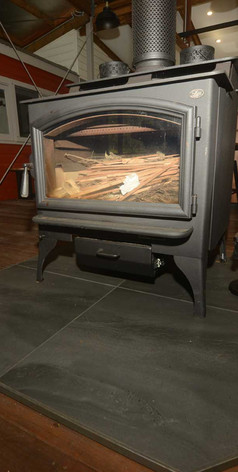 The fireplace is very enjoyable during the cooler months, especially in Winter.