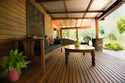 large private deck to relax