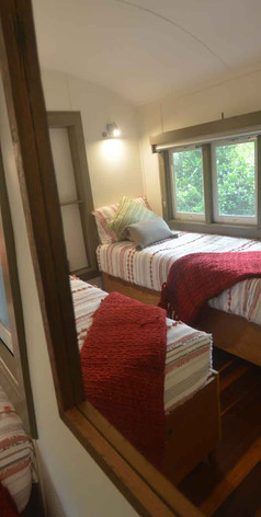 Enjoy the comfortable and peaceful train carriage bedroom