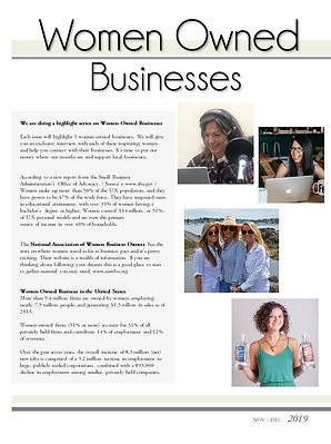 Woman Owned Businesses
