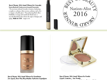 "Nation A-list Magazine                        ""Best of 2016 Award Winners"""