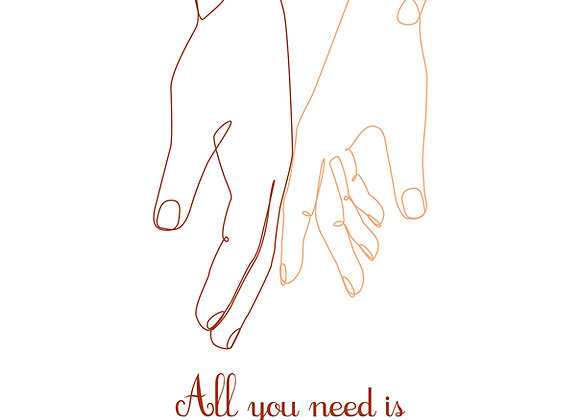 PETITE AFFICHE ALL YOU NEED IS LOVE & SANCERRE
