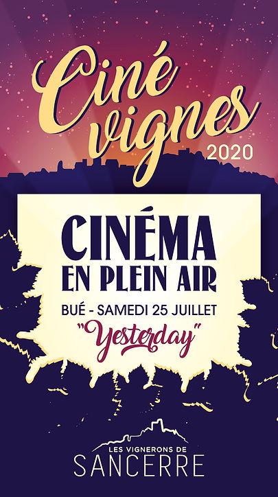 Affiche Ciné vignes Bué