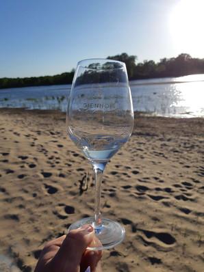 Dégustation sur une plage de Loire
