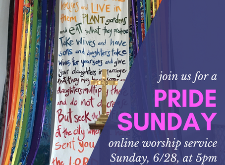 Beacon Online Worship Outline 6/28/20 Pride Sunday Ordinary Time