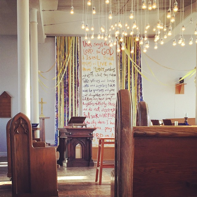 Instagram - afternoon sunlight in the sanctuary. pretty