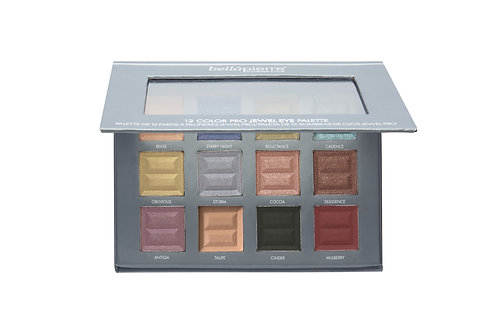 BELLAPIERRE- 12 Color Pro Jewel Eye Palette
