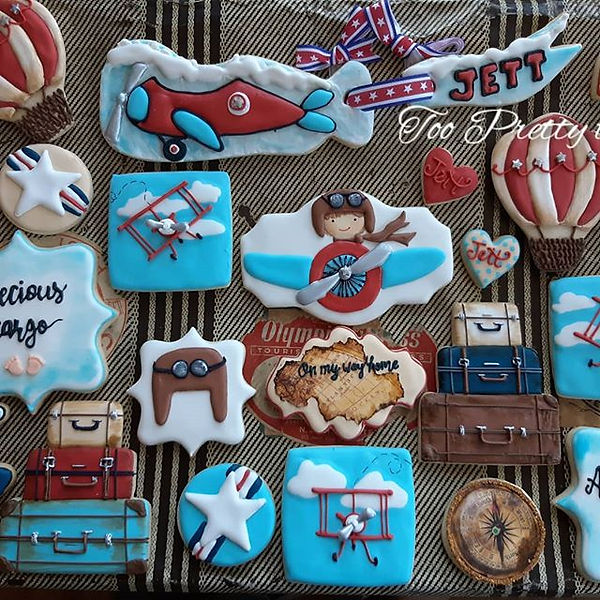 Sweet baby shower cookies for a precious