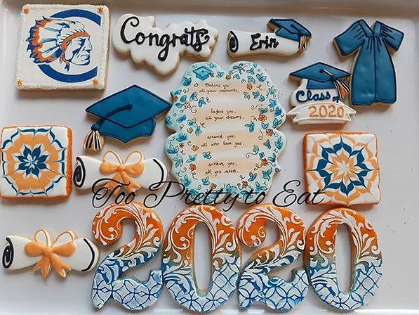 Graduation cookies, fresh meyer lemon wi