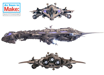 Alien spacecraft model