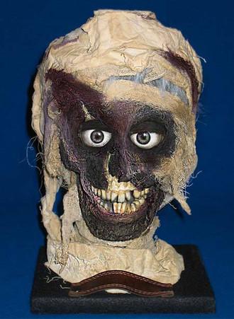 Animatronic mummy head