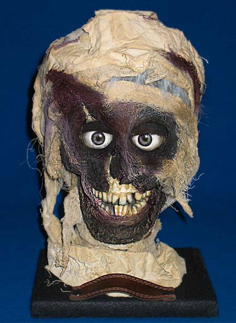 Animatronic mummy head