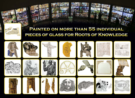 Interview about Roots of Knowledge stain glass painting