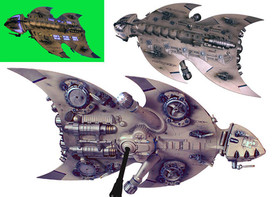 Alien spacecraft model