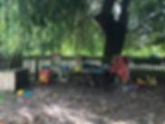 Sandpit play garden
