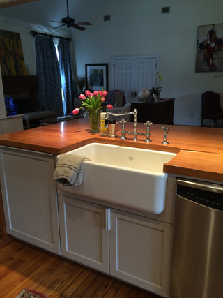 Farmhouse Sink Wood Counter.JPG