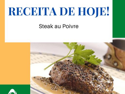 Receita de Hoje (Steak au poivre - file com pimentas)