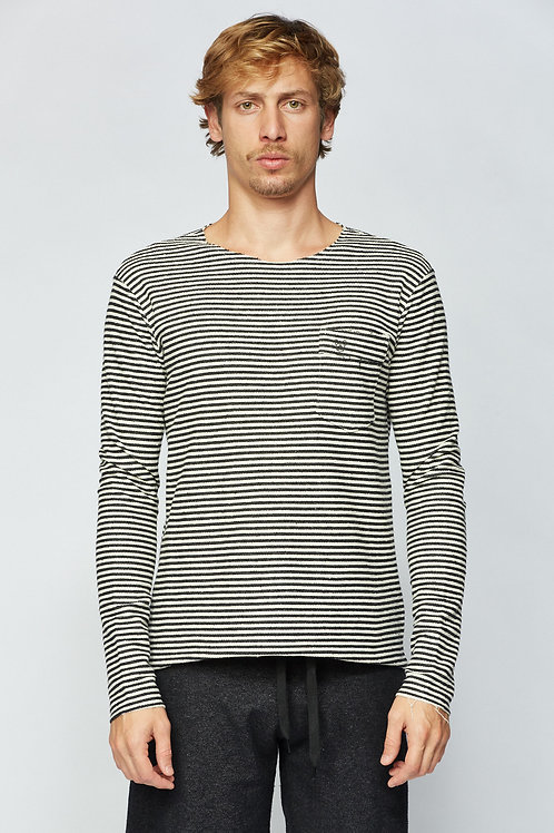T-Shirt ML Outside - PRETO