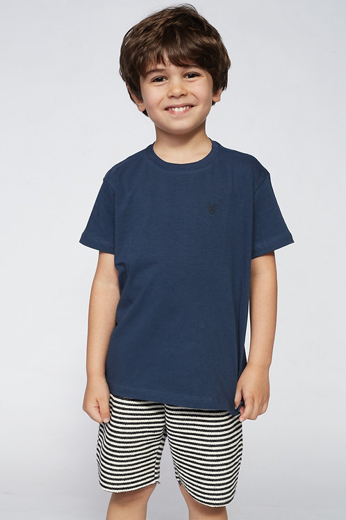 T-Shirt Básica Marinho - Kids