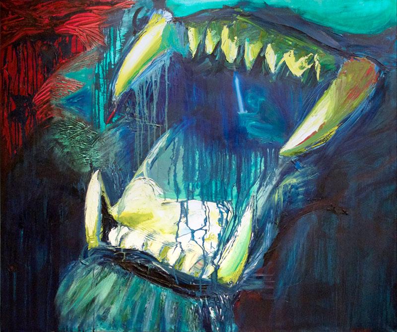 """Jabberwocky"" - Oil on canvas"