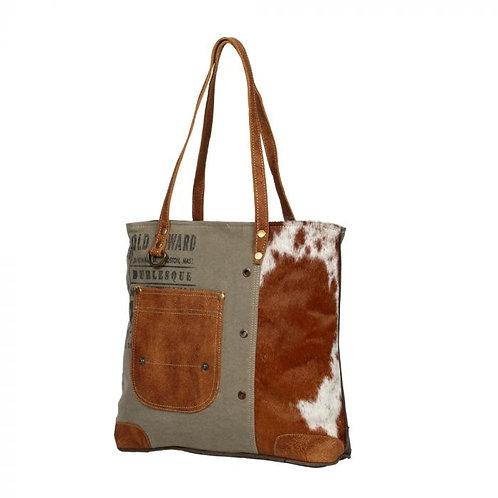 Leather Pocket Tote Bag